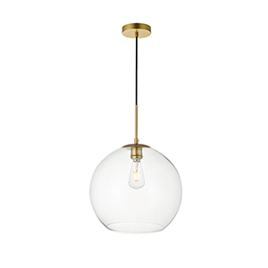 Baxter Brass 13-Inch One-Light Pendant