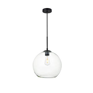 Baxter Black 11-Inch One-Light Pendant