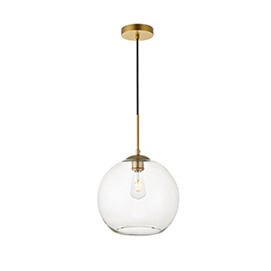 Baxter Brass 11-Inch One-Light Pendant