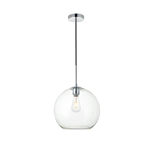 Baxter Chrome 11-Inch One-Light Pendant