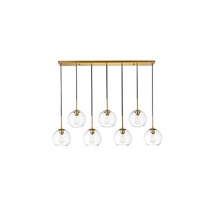 Baxter Brass Seven-Light Mini Pendant