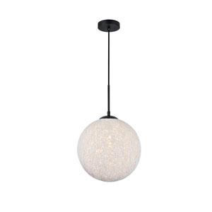Malibu Black and White 12-Inch One-Light Pendant