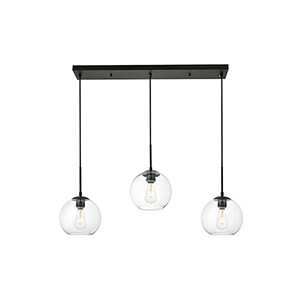 Baxter Black Seven-Inch Three-Light Mini Pendant