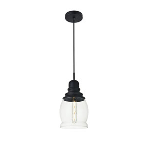 Kenna Black Six-Inch One-Light Mini Pendant