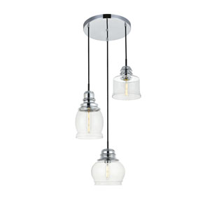 Kenna Chrome Three-Light Pendant