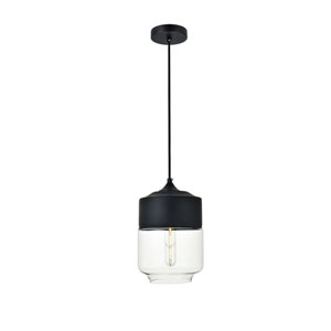 Ashwell Black Seven-Inch One-Light Mini Pendant