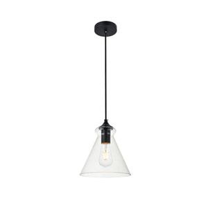 Destry Black Eight-Inch One-Light Mini Pendant