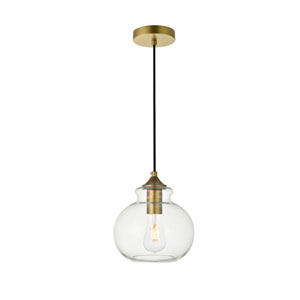Destry Brass One-Light Mini Pendant