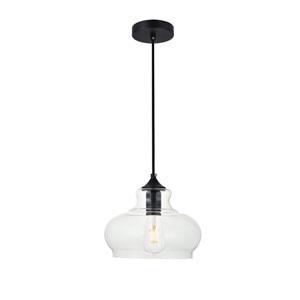Destry Black Nine-Inch One-Light Mini Pendant