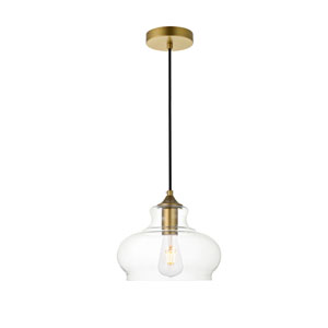 Destry Brass Nine-Inch One-Light Mini Pendant