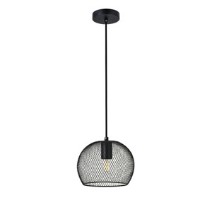 Keller Black Eight-Inch One-Light Mini Pendant