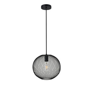 Keller Black 11-Inch One-Light Pendant