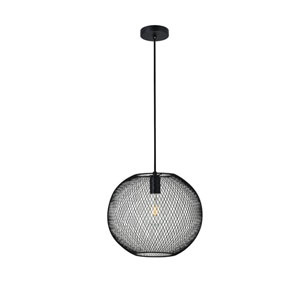 Keller Black 13-Inch One-Light Pendant