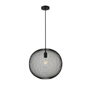 Keller Black 15-Inch One-Light Pendant