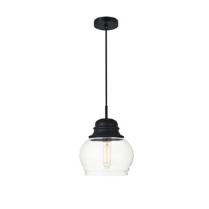 Kenna Black Eight-Inch One-Light Mini Pendant