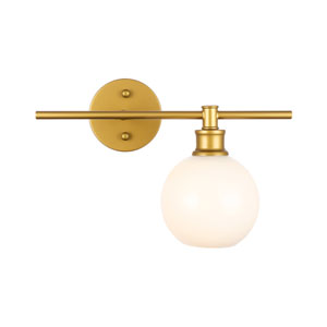 Collier Brass One-Light Bath Vanity with Frosted White Glass