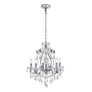 Voltaire Chrome 22-Inch Five-Light Chandelier