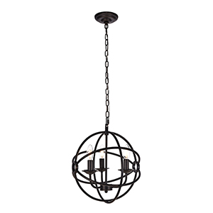 Octavia Dark Brown Three-Light Pendant