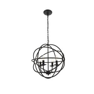 Octavia Dark Brown 18-Inch Four-Light Pendant