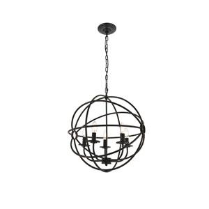 Octavia Dark Brown 20-Inch Five-Light Pendant