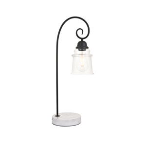 Spire Black and White One-Light Table Lamp