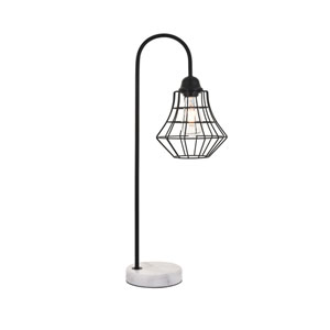 Candor Black and White One-Light Table Lamp