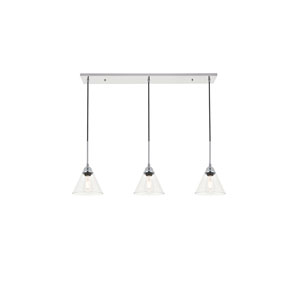 Histoire Chrome 40-Inch Three-Light Pendant