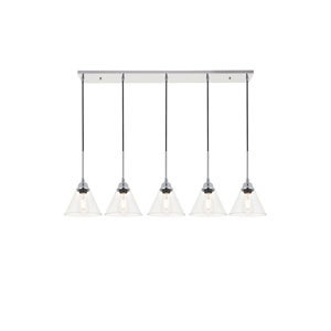 Histoire Chrome Five-Light Pendant