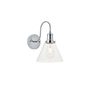 Histoire Chrome Eight-Inch One-Light Bath Vanity