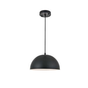 Forte Black 12-Inch One-Light Pendant