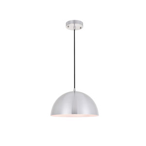 Forte Brushed Nickel 12-Inch One-Light Pendant