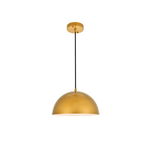 Forte Satin Gold 12-Inch One-Light Pendant