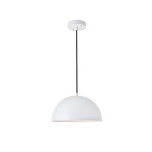 Forte White 12-Inch One-Light Pendant