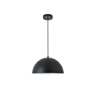 Forte Black 14-Inch One-Light Pendant