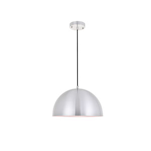Forte Brushed Nickel 14-Inch One-Light Pendant