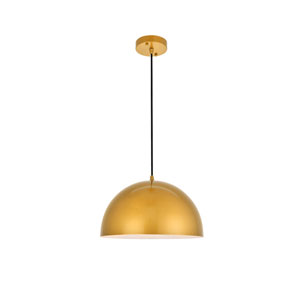 Forte Satin Gold 14-Inch One-Light Pendant