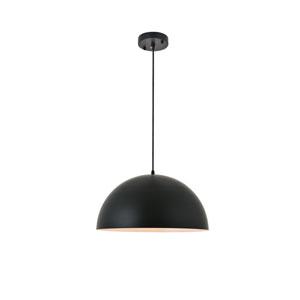 Forte Black 16-Inch One-Light Pendant