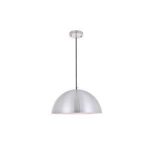 Forte Brushed Nickel 16-Inch One-Light Pendant