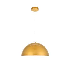 Forte Satin Gold 16-Inch One-Light Pendant