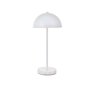 Forte White 10-Inch One-Light Table Lamp