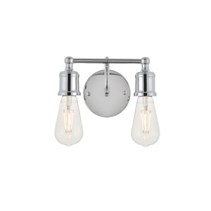 Serif Chrome Two-Light Wall Sconce