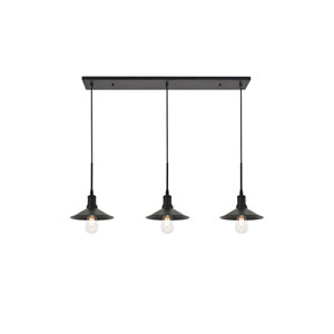 Etude Black 42-Inch Three-Light Pendant