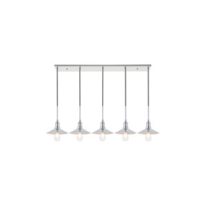 Etude Chrome Five-Light Pendant