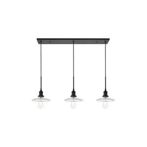 Waltz Black 41-Inch Three-Light Pendant