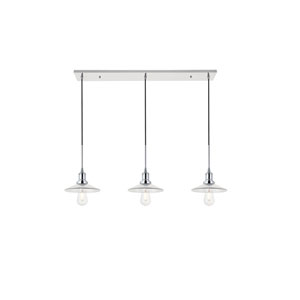 Waltz Chrome 41-Inch Three-Light Pendant