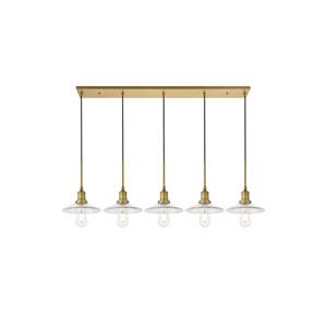 Waltz Brass Five-Light Pendant