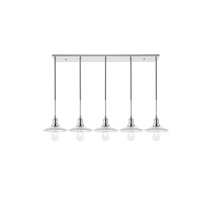 Waltz Chrome Five-Light Pendant