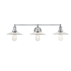 Waltz Chrome 33-Inch Three-Light Bath Vanity