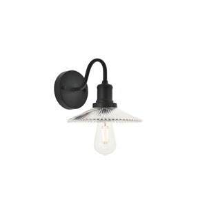 Waltz Black Eight-Inch One-Light Bath Vanity