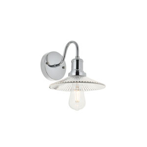 Waltz Chrome Eight-Inch One-Light Bath Vanity